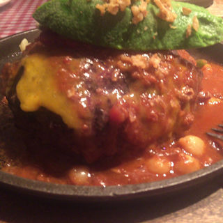 メキシカンハンバーグ300g(ハンバーグ&ステーキ食堂 KURAUZO (クラウゾ))