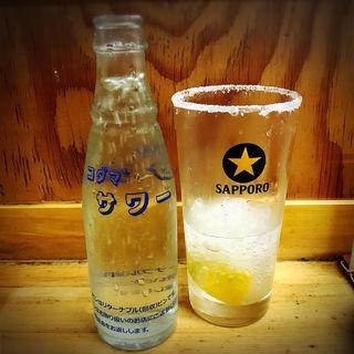 レモンサワー(もつ焼 でん 中目黒店)