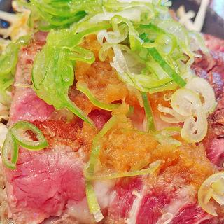 リブロースのねぎおろしポン酢プレート(筋肉食堂 )