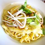 タリアテッレ カラスミとイカのペペロンチーノ
