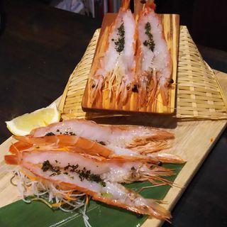 赤エビのカルパッチョ(バル・エビータ)
