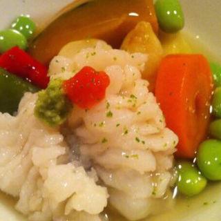 鱧と京野菜の炊き合わせ(料理 澤)