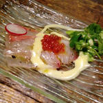 白身魚のカルパッチョ  コースの前菜