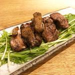 鶏ハラミの炭火炙り焼き(炭火串焼とりと 河原町三条店)