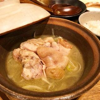 骨付きさつま鶏のスープ炊き(炭火串焼とりと 河原町三条店)
