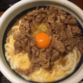 牛すき釜玉肉増し大(丸亀製麺 一之江店 )