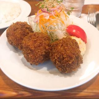 メンチカツ  (スープ・ライス付き)(レストラン・サカキ (RESTAURANT SAKAKI))