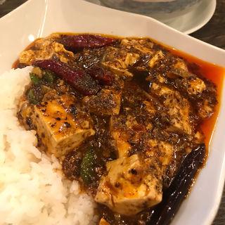 麻婆豆腐かけごはんと一口坦々麺セット(雲林坊 秋葉原店 (ユンリンボウ))