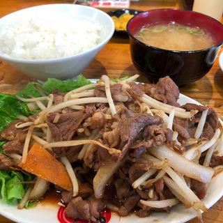 ジンギスカン焼肉定食