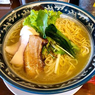 にごり塩ラーメン大盛(鶏骨スープ 青桐 (けいこつすーぷあおぎり))