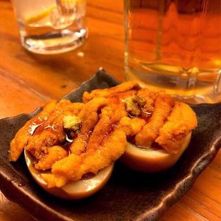ウニon the 煮玉子(タラちゃんイクラちゃんドラちゃん )