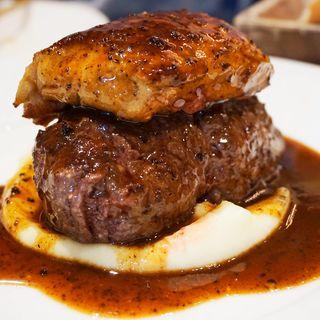 牛フィレ肉とフォアグラのロッシーニ(俺のフレンチ 博多)
