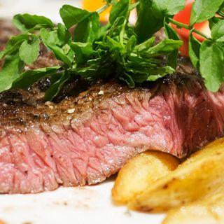 US産プライムビーフの1ポンドステーキとポテトフライ(俺のフレンチ 博多)