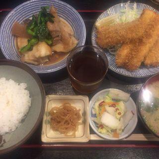 穴子フライ+煮魚(わぶ )
