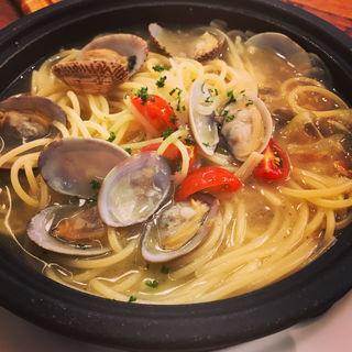 たっぷり浅利のスープスパゲティ