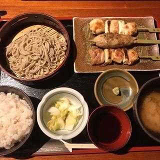 鶏串焼き+半せいろ(鳥元 柏店 (とりげん))
