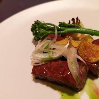 富良野牛の薪焼ステーキ(TEST KITCHEN H)