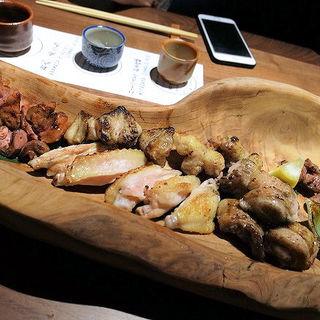 朝〆鶏焼盛り合わせ(つくね侍 さかのうえ)