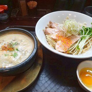 鶏すきやき風つけ麺(麺のようじ (【旧店名】大阪拳))