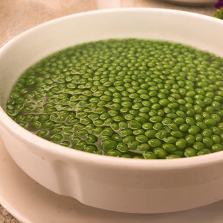 鶏油碗豆(特製グリーンピーススープ)(人和園雲南菜)