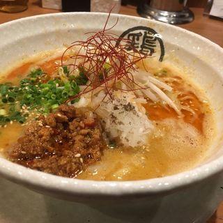 鶏担々麺(らーめん 御器所鶏白湯 鶏神 )
