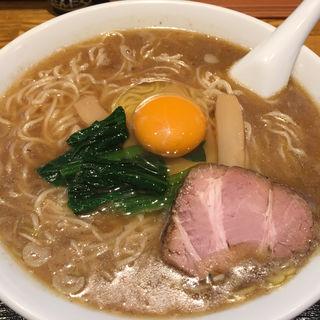 中華そば中、生卵(一颯 (イブキ))