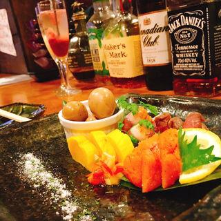 前菜盛り合わせ(肉の寿司×焼鳥 okitaya)