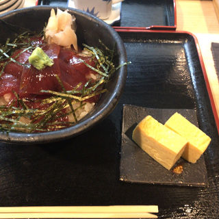 秘伝のまぐろ漬け丼定食(東銀座 江戸銀 )
