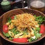 水菜と湯葉のちりめんサラダ