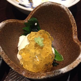 チーズ豆腐のコンソメ醤油ジュレ掛け(ほっこり 有楽町店 )