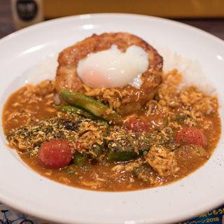 スパイスカレー THEチキベジ+半熟タマゴ鶏つくね(カレーハウスCoCo壱番屋 姫路グランフェスタ店 )