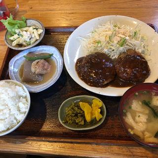 ハンバーグ定食(ぐらんまま)