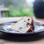 ブルーベリーとバナナのバターケーキ