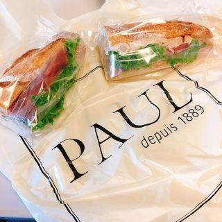 アンシェン・ジャンボンクリュ 1/2 Sandwich jambon cru(PAUL 品川駅店 (ポール))