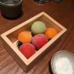 色彩きれいな氷結トマト