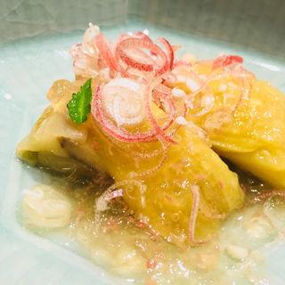 大阪茄子の梅ジュレ 優しい出汁と梅のジュレ(日本料理 翠 )
