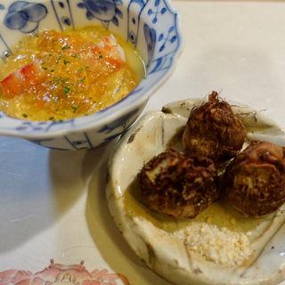 雲丹と海老の茶碗蒸し(ひろ作 (ひろさく))