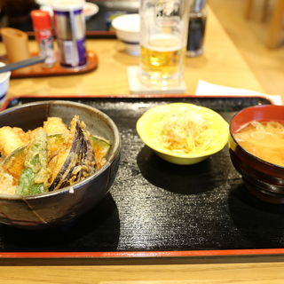 ミニ穴子天丼(活魚ニューこのり )