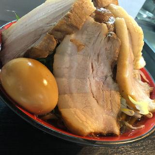 藤郎(限定)+肉増し+味玉(麺匠 重厚軍団)