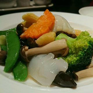 いかと野菜の炒めもの(広東料理 民生 ヒルトンプラザウエスト店 (みんせい))