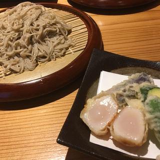 ホタテ天蕎麦ランチ(浜町 かねこ)
