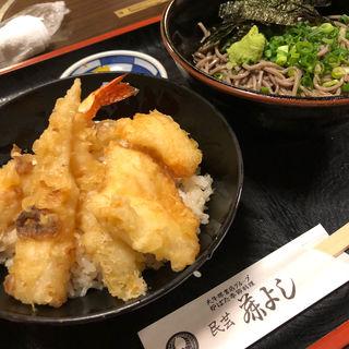 ちくわと海老と鶏の天丼定食(藤よし 堺駅前店 (ふじよし))