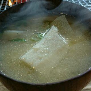 だご汁(ろばたやき山ろく (さんろく))
