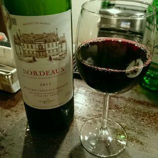 ボルドー赤グラスワイン(ル・ルー (le・roux))