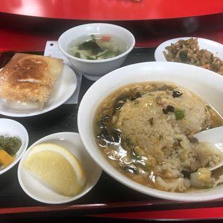 あんかけ炒飯定食(中国家庭料理大連 (チュウゴクカテイリョウリダイレン))