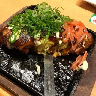 ふわとろ山芋海鮮モダン焼