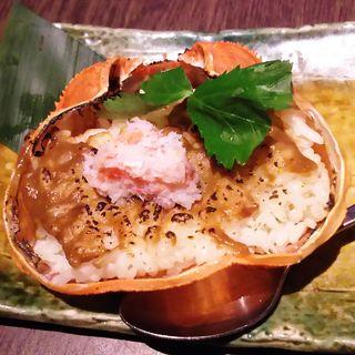 蟹甲羅の焼めし(北の味紀行と地酒 北海道 川崎駅前店)
