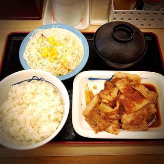 豚バラ生姜焼定食(松屋 中目黒店 )