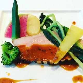 あぐー豚のローストマスタードソース(レストラン浜比庭 (ハピナ))
