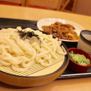 ざるうどん大盛+牛皿(なか卯 すすきの西店 )